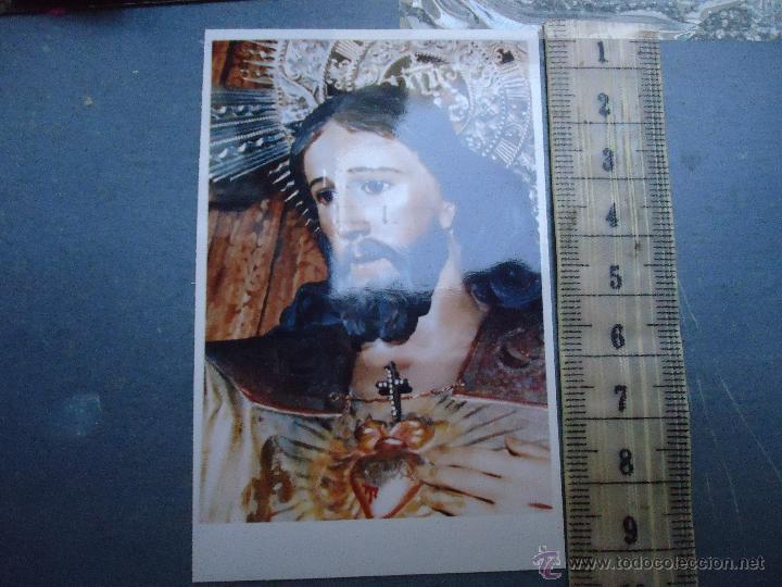 ESTAMPA RELGIOSA CRISTO SAGRADO CORAZON DE JESUS (Postales - Postales Temáticas - Religiosas y Recordatorios)