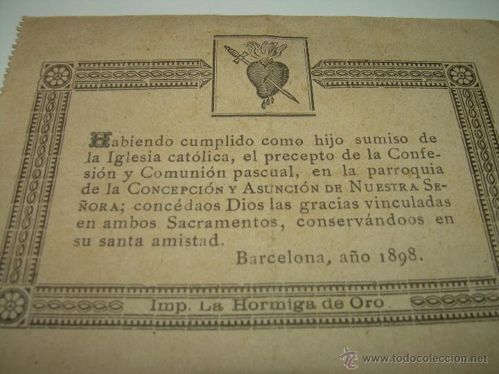 Postales: ESTAMPAS RELIGIOSAS...SIGLO XIX. - Foto 2 - 45065538