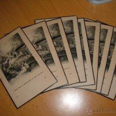 Postales: LOTE ANTIGUOS RECORDATORIOS. Lote 45200370