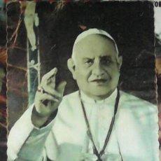 """Postales: IMAGEN DE JUAN XXIII CON TEXTO """"BENDIGO A LOS QUE REZAN EL ROSARIO"""". Lote 45235181"""