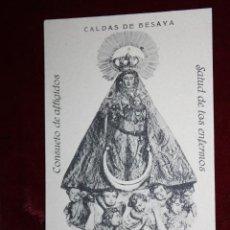 Postales: ANTIGUA POSTAL DE CALDAS DE BESAYA. CANTABRIA. NTRA. SRA. DE LAS CALDAS. FOTPIA. CASTAÑEIRA. Lote 45272108