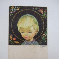 Postales: ESTAMPA - RECORDATORIO PRIMERA COMUNION - 1966 - ILUSTRADO POR GISBERT SOLER. Lote 45425092