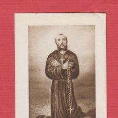 Postales: ESTAMPA RELIGIOSA- CASIMIRO BARELLO MORELLO- PENITENTE TERCIARIO FRANCISCANO-EST.395. Lote 45511454