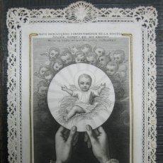Postales: ANTIGUA ESTAMPA RELIGIOSA TROQUELADA / POSTAL DE PUNTILLAS / R. SOLÁ Y ROCA ED. BARCELONA. Lote 45568304