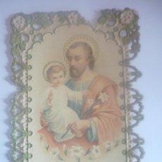 Postales: EL PATRIARCA SAN JOSÉ, EN PUNTILLA FRANCESA. CIRCULADA AÑO 1914. Lote 45620244