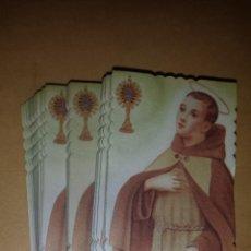 Postales: LOTE RECORDATORIOS ESTAMPAS RELIGIOSAS. Lote 45896140