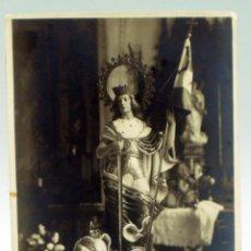 Postales: FOTOGRAFÍA SAN FERNANDO REY CASTILLA CON BANDERA LEÓN. Lote 46073075