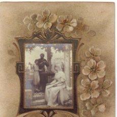 Postales: ER - 25 RECORDATORIO PRIMERA COMUNIÓN FAMILIA DOMECQ 1910. Lote 46168266