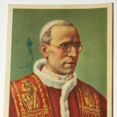 Postales: ESTAMPITA RELIGIOSA PAPA PIO XII. ORACION DEL AÑO SANTO. NAVIDAD 1948.10,2 X 7,3 CM. VER FOTOS.. Lote 46351177