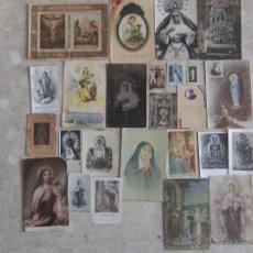 Postales - LOTE 25 ESTAMPAS Y POSTALES RELIGIOSAS años 1910 a 1950. - 46383564