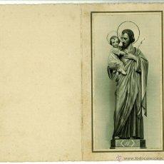 Postales: DIPTICO RECUERDO BENDICION IMAGEN SAN JOSE IGLESIA SAN GINES AMETLLA DEL VALLES (BARCELONA) 1942. Lote 46481867