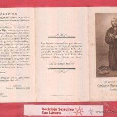 Postales: ESTAMPA RELIGIOSA PENITENTE CASIMIRO BARELLO MORELLO 1928 ORACIÓN PARA SU BEATIFICACIÓN EST.827. Lote 46570827