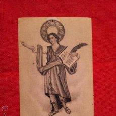 Postales: ESTAMPA RELIGIOSA ANTIGUA DE SAN PANCRACIO MARTIR. Lote 108776835