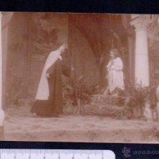 Postales: POSTAL FOTOGRAFICA.TEATRO REPRESENTANDO ESCENAS RELIGIOSAS.SIN CIRCULAR.. Lote 46897209