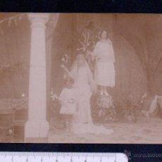 Postales: POSTAL FOTOGRAFICA.TEATRO REPRESENTANDO ESCENAS RELIGIOSAS.SIN CIRCULAR.. Lote 46897242