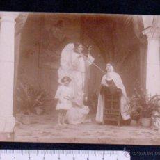 Postales: POSTAL FOTOGRAFICA.TEATRO REPRESENTANDO ESCENAS RELIGIOSAS.SIN CIRCULAR.. Lote 46897261