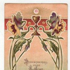 Postales: RECUERDO 1ª COMUNION MODERNISTA. 1910. . Lote 47018356