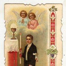Postales: RECUERDO 1ª COMUNION MODERNISTA. 1907. Lote 47018386