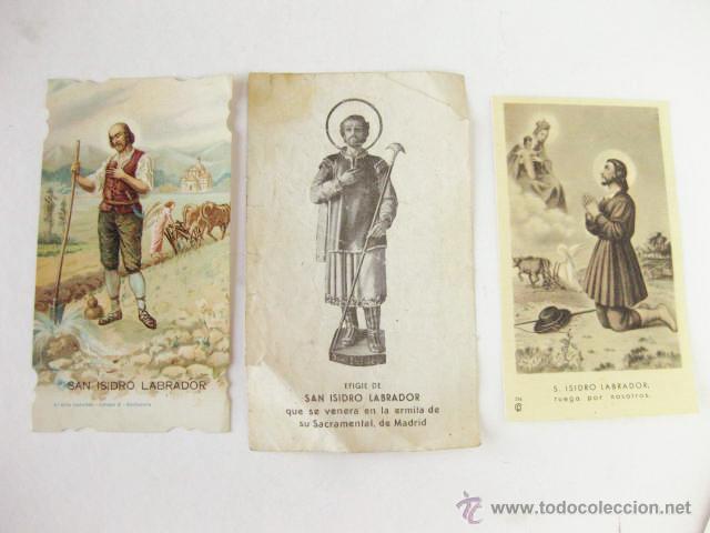 estampas de san isidro labrador estampa del patron de madrid postales religiosas
