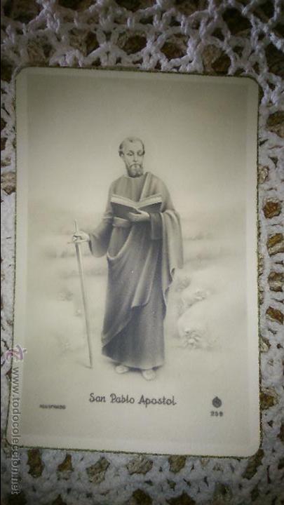 POSTAL RELIGIOSA ANTIGUA A ESTRENAR DE SAN PABLO APOSTOL / MB 259 BAÑERES (Postales - Postales Temáticas - Religiosas y Recordatorios)