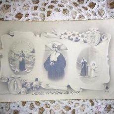 Postales: POSTAL RELIGIOSA ANTIGUA A ESTRENAR DE SANTA CATALINA LABOURE / MB 443 BAÑERES. Lote 47130095