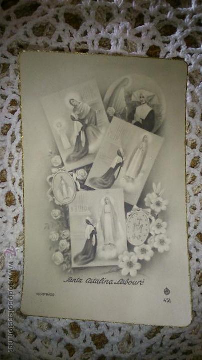 POSTAL RELIGIOSA ANTIGUA A ESTRENAR DE SANTA CATALINA LABOURÉ / MB 451 BAÑERES (Postales - Postales Temáticas - Religiosas y Recordatorios)