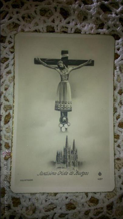 POSTAL RELIGIOSA ANTIGUA A ESTRENAR DE SANTÍSIMO CRISTO DE BURGOS / MB 487 BAÑERES (Postales - Postales Temáticas - Religiosas y Recordatorios)