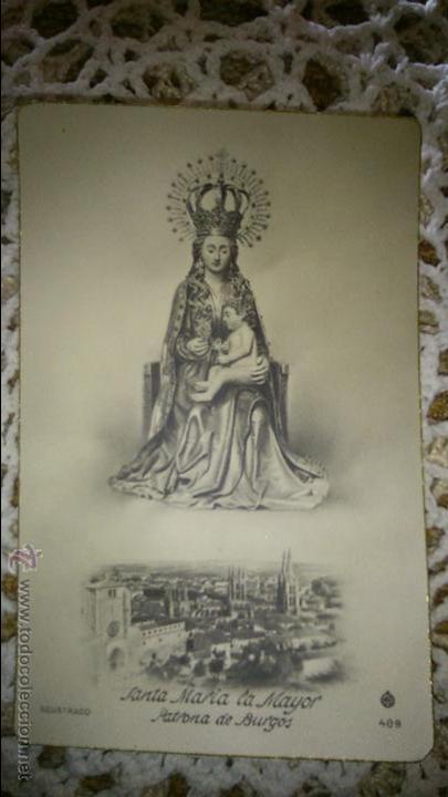 POSTAL RELIGIOSA ANTIGUA A ESTRENAR DE SANTA MARIA LA MAYOR PATRONA DE BURGOS / MB 489 BAÑERES (Postales - Postales Temáticas - Religiosas y Recordatorios)