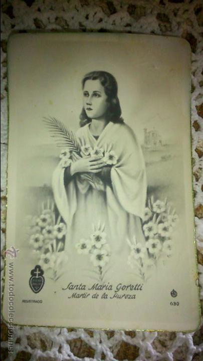 POSTAL RELIGIOSA ANTIGUA A ESTRENAR DE SANTA MARIA GORETTI MARTIR DE LA PUREZA / MB 630 BAÑERES (Postales - Postales Temáticas - Religiosas y Recordatorios)