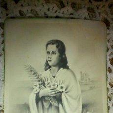 Postales: POSTAL RELIGIOSA ANTIGUA A ESTRENAR DE SANTA MARIA GORETTI MARTIR DE LA PUREZA / MB 630 BAÑERES. Lote 47130242