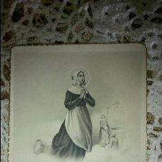 Postales: POSTAL RELIGIOSA ANTIGUA A ESTRENAR DE SANTA LITA / MB 886 BAÑERES. Lote 47130595