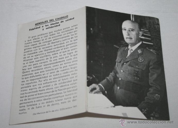RECORDATORIO DE LA MUERTE DE FRANCO DE LA FUNDACION NACIONAL FRANCISCO FRANCO, ANTE LA TUMBA EN 1981 (Postales - Postales Temáticas - Religiosas y Recordatorios)