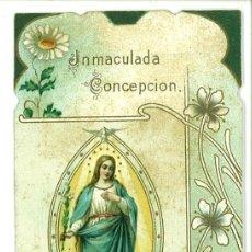 Postales: RECORDATORIO IMMACULADA CONCEPCION FIESTA SEMINARISTAS BARCELONA 1910. Lote 47204950