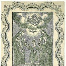 Postales: SAGRADA FAMILIA INDULGENCIAS MATEO JAUME GRAU OBISPO DE MAHON 1867. Lote 47205000
