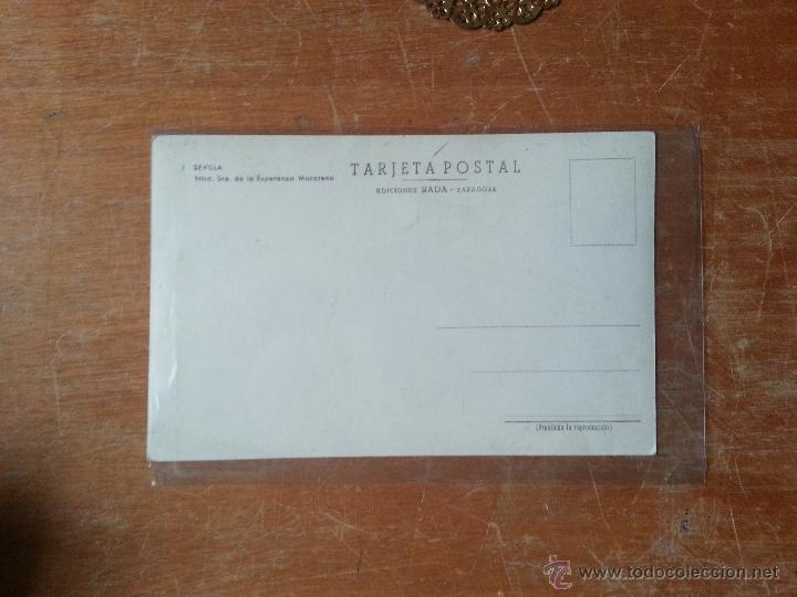 Postales: dificil tarjeta postal semana santa sevilla numero 1 virgen de la esperanza macarena - Foto 2 - 175455137