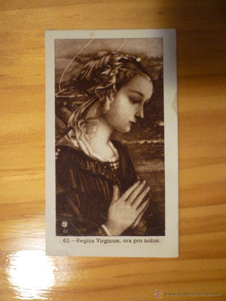 ESTAMPA RELIGIOSA REGINA VIRGINUM (Postales - Postales Temáticas - Religiosas y Recordatorios)