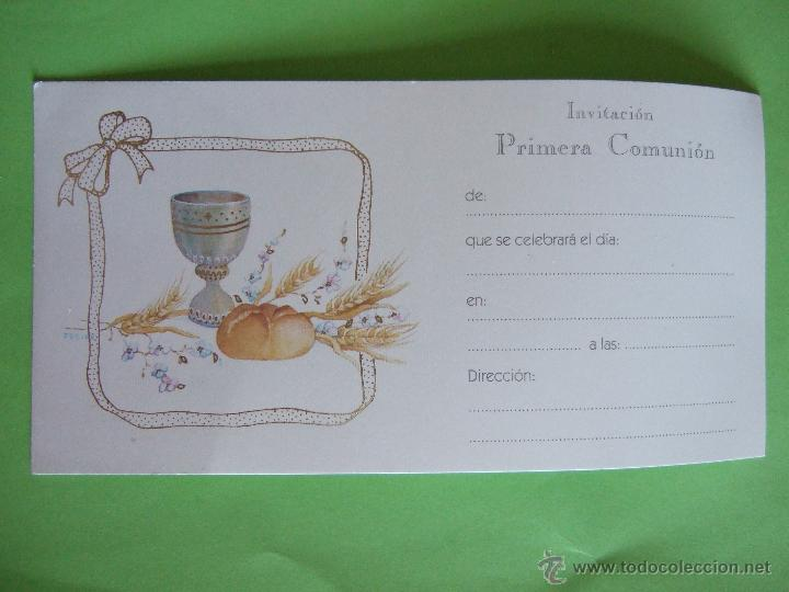 Tarjeta Invitacion Primera Comunion Busquets Años 90