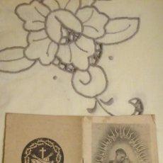 Postales: ESTAMPA RELIGIOSA ANTIGUA TIPO LIBRITO DE SAN ANTONIO DE PADUA,DE SU SANTUARIO ZARAGOZA,IMP.PAMPLONA. Lote 47673099