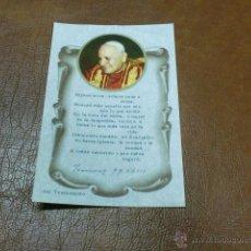Postales: ESTAMPA/RECORDATORIO DEL TESTAMENTO DE JUAN XXIII. Lote 47756915