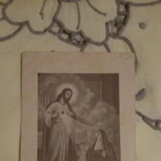 Postales: ESTAMPA RELIGIOSA ANTIGUA DE SANTA MARGARITA DE ALACOQUE / APOSTOL DEL SAGRADO CORAZON DE JESUS. Lote 146960100