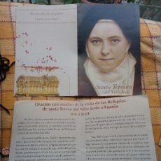 Postales: ESTAMPA RELIGIOSA, SANTA TERESITA DEL NIÑO JESUS. Lote 47813519