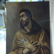 Postales: POSTAL RELIGIOSA SAN FRANCISCO EL GRECO. Lote 47926090