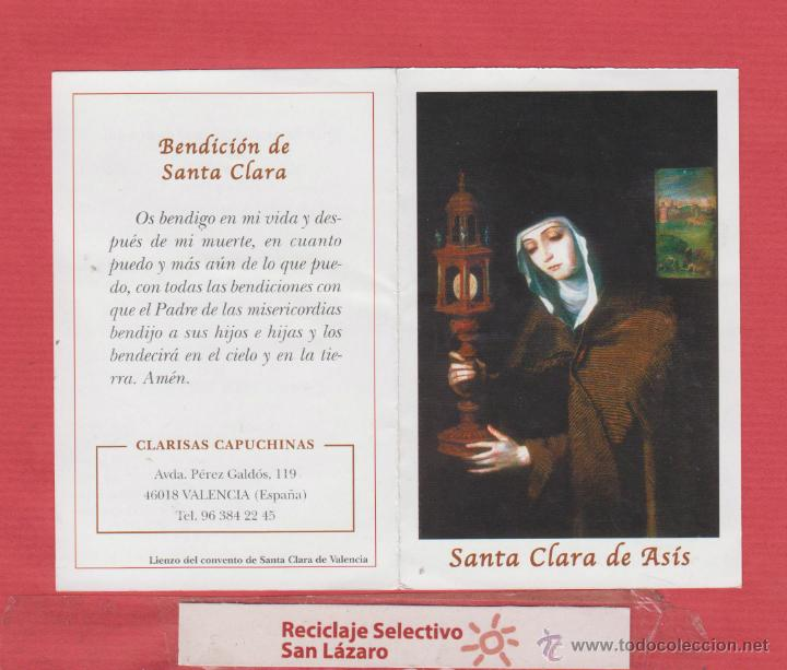 Estampa Religiosa Santa Clara De Asís Oración Y Comprar Postales
