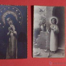 Postales: 2 PEQUEÑAS ESTAMPAS (3,1X5,2). Lote 47995979