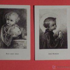 Postales: 2 PEQUEÑAS ESTAMPAS DEL NIÑO JESÚS (EN FRANCES) (3,9X6). Lote 47996020