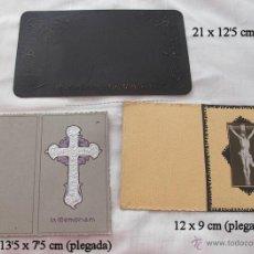 Postales: LOTE DE DOS RECORDATORIOS Y OTRA COSA RELIGIOSOS MODERNISTAS. Lote 48144537