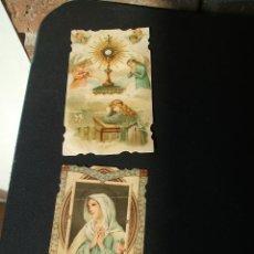 Postales: DOS ESTAMPAS RECORDATORIOS COMUNION 1915 Y 1922 TROQUELADAS. Lote 48150370