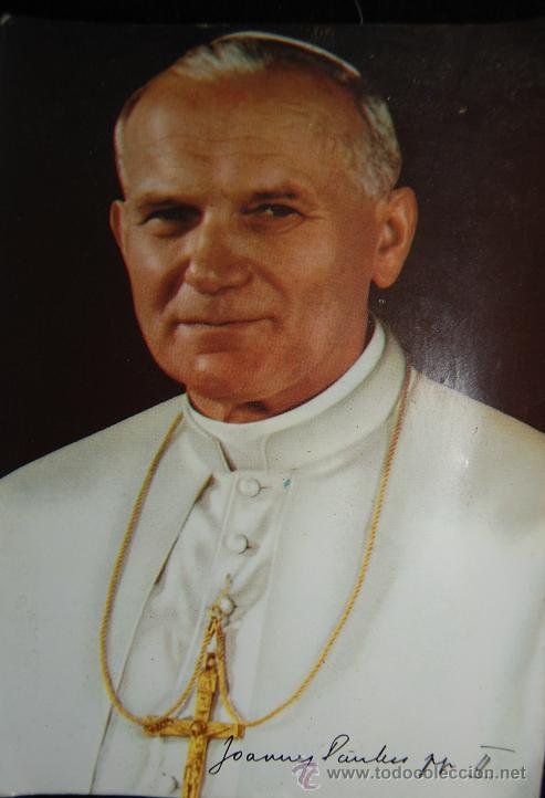 ESTAMPA DEL PAPA JUAN PABLO II DE 1982-01 (Postales - Postales Temáticas - Religiosas y Recordatorios)