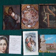 Postales: RELIGIOSAS-V30-2-VARIOS-LA CARTUJA-GRANADA-MADONNA-S.JUAN DE LA CRUZ-MONAST.DE LA ENCARNACION. Lote 48366135