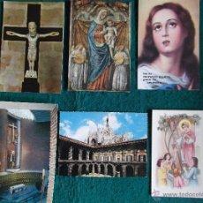 Postales: RELIGIOSAS-V30-2-VARIOS-LEON-SAN MARCOS-S.MARIA DEL MONTE CARMELO-MADRID-MADONNA E BAMBINO. Lote 48366379